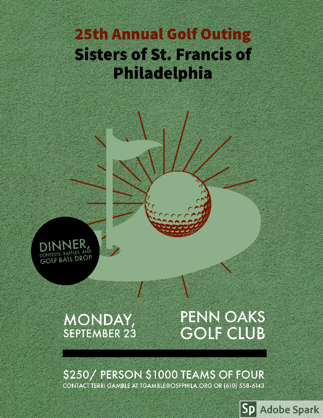 test Twitter Media - Play golf? Come support the Sisters of St. Francis of Philadelphia and have the chance to win Eagles tickets and take part in the ball drop and the silent auction.  Register online at: https://t.co/TRmGNlhOsX. https://t.co/CWQVS2zw5c