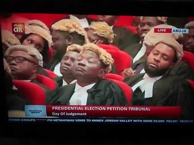 Dear PEPT Judges, My generator has been on since 8: am, I have decided to save my fuel now since you have confirmed to Nigerians that anyone can actually to contest election based on hearsay he sat for exam and not mandatory to present certificate. #PEPTSAVENIGERIA <br>http://pic.twitter.com/gWP1tSijr7