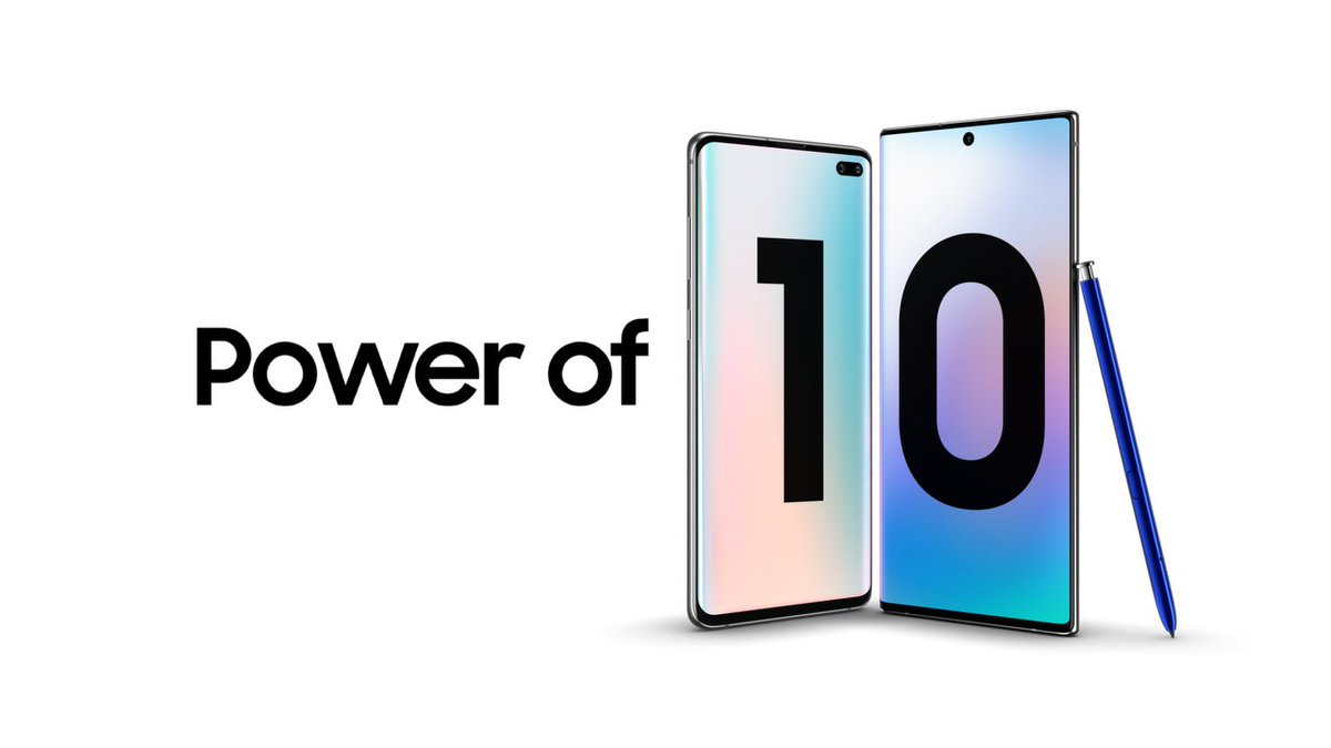 The power is already here: #GalaxyS10 Plus and #GalaxyNote10 Plus. Learn more: http://smsng.co/Powerof10_tw