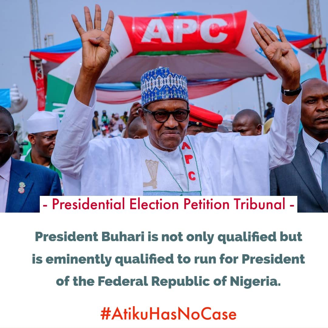 Ooh sorry I forgot the *Eminently* and I need to give you wailers the complete information   PRESIDENT BUHARI IS NOT ONLY QUALIFIED BUT EMINENTLY QUALIFIED TO RUN FOR PRESIDENT OF THE FEDERAL REPUBLIC OF NIGERIA -#PEPTJudgement  #PEPTUpdate #PEPTSAVENIGERIA #AtikuBusted #Atiku<br>http://pic.twitter.com/l5Wh3CYwfY