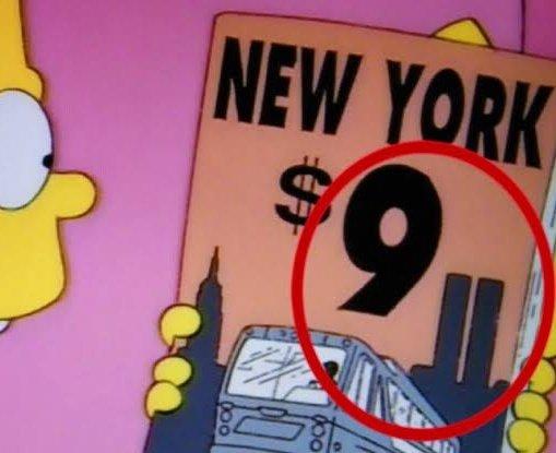 """Hoy se cumplen 18 años del 9/11, atentado contra las Torres Gemelas en NY... Y si, también lo """"predijeron"""" Los Simpsons. 😱"""
