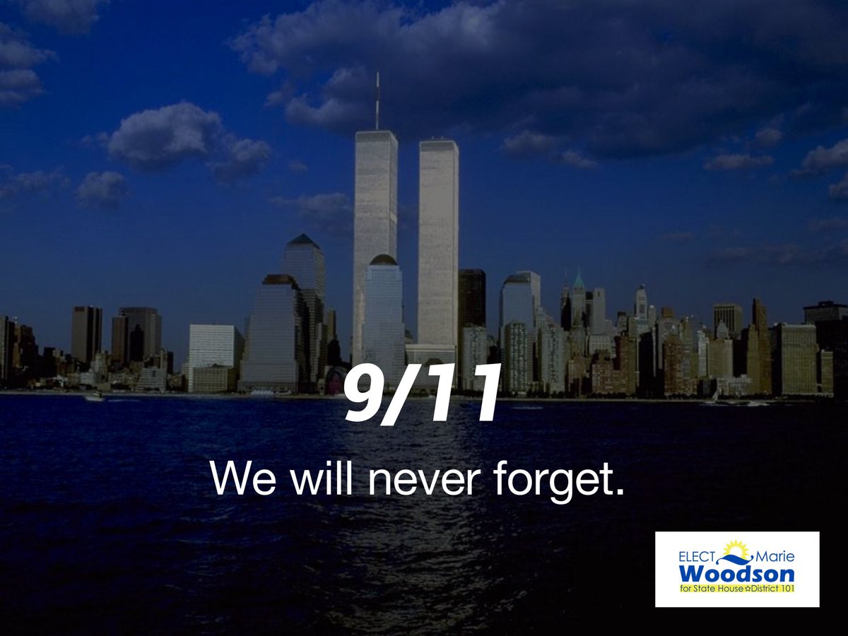 We can never forget 9/11 and those who lost their lives in such a tragic act of terrorism. As a country, we need to put safety first as it is our utmost responsibility to do so. Let's not also forget the families whose lives are changed forever.  #NEVERFORGET
