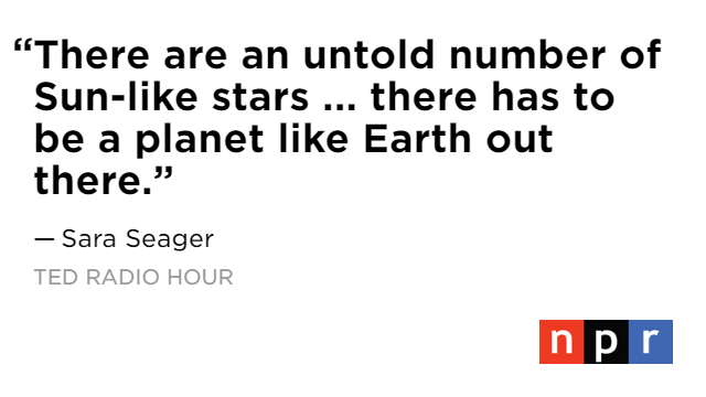 Is there life in the larger universe? @ProfSaraSeager says we are very close to finding the answer