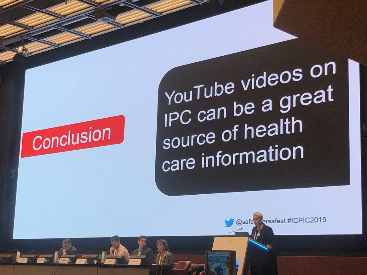 Use YouTube to promote #HandHygiene as a educational tool #ICPIC2019 <br>http://pic.twitter.com/yIXCVBealB