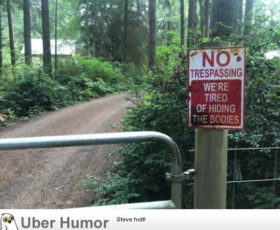 #ToSurviveInTheWild  Avoid these signs