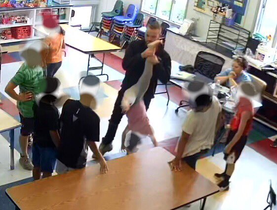 Proctor appears to participate in student bullying (image)