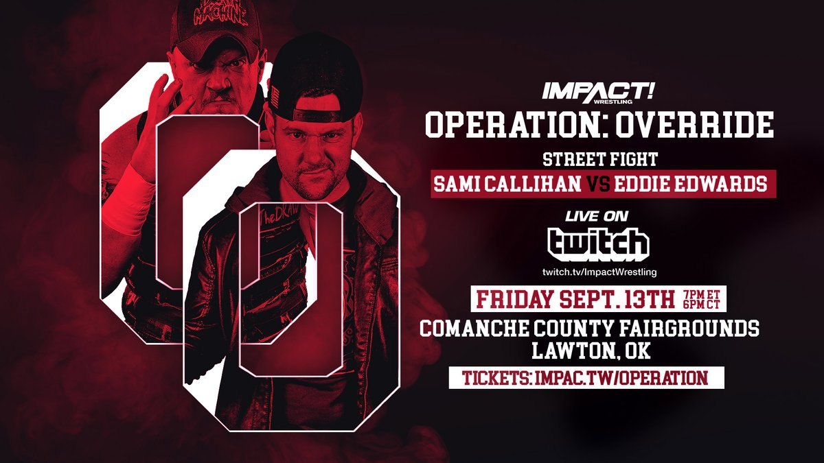 Impact Wrestling: Your weekend is set! 👊  Friday https://t.co/lCHDLLraEM @Twitch: #OperationOverride  ...