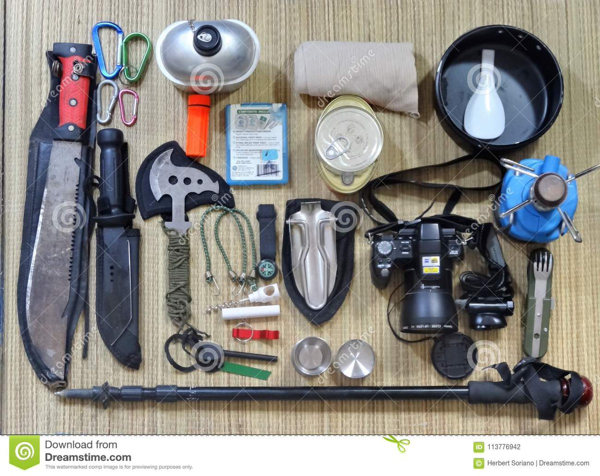 #ToSurviveInTheWild you need all this crap