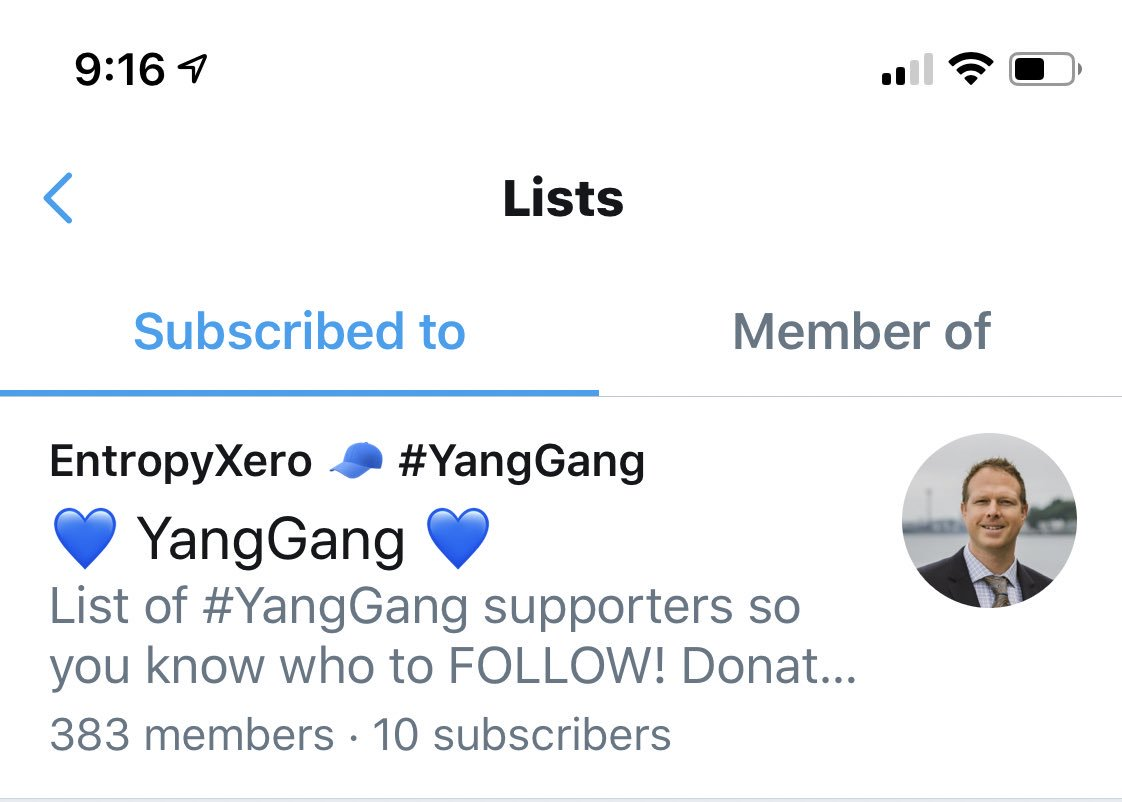 """Hey #YangGang! I'm making a Twitter """"List"""" of @AndrewYang supporters so you can easily follow & retweet articles, videos, polls, content that you think needs to be shared! If you'd like to be on the list, comment below & I'll add you!! ✌🏼 #AndrewYang2020 💙 #YangBeatsTrump 💙"""