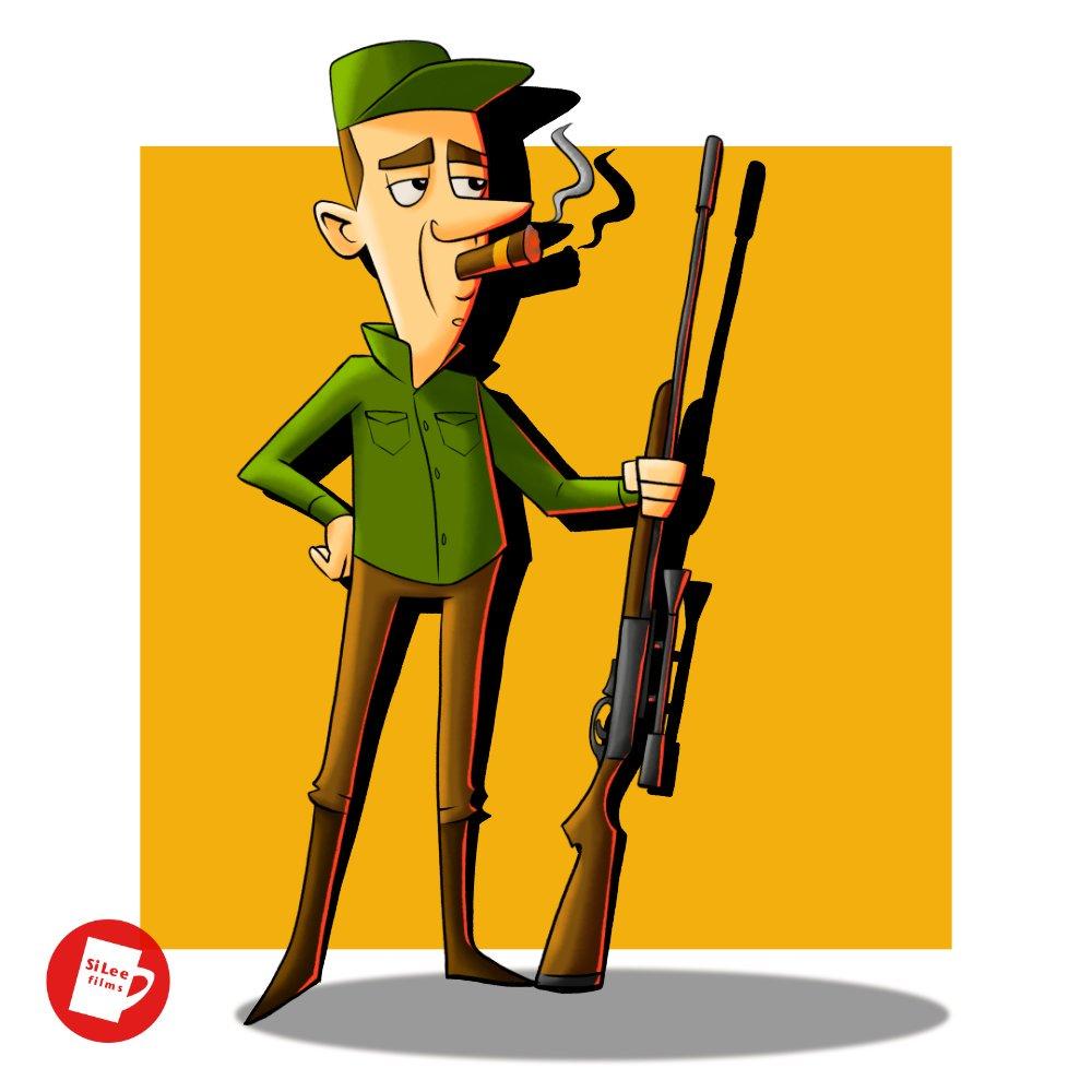 Arrogant hunt...er. #illustration #madeinaffinity @affinitybyserif @wacom