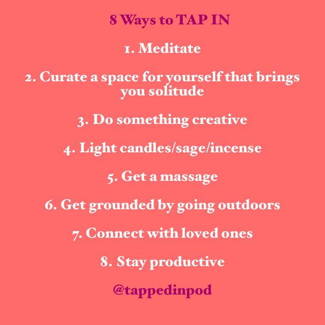 Happy Hump day  here are 8 ways to tap into a positive and productive energy   #tapin #selflove #selfcare #tappedinpod<br>http://pic.twitter.com/Oc71mCwdg8