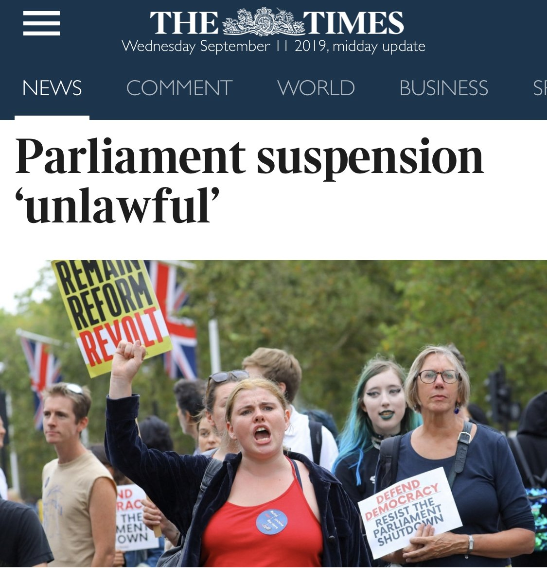 Why the quote marks, @thetimes? It's unlawful. Not 'unlawful'. You need to edit your 'newspaper'.