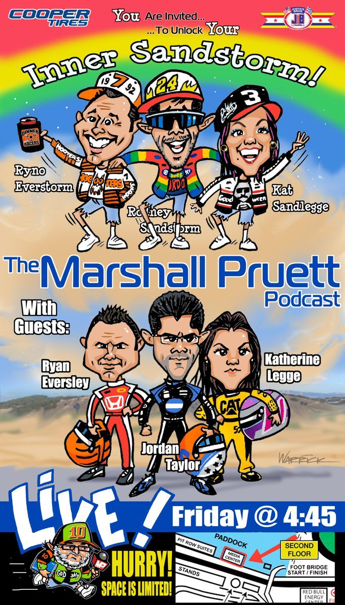 My final live @IMSA podcast of the year is Friday @WeatherTechRcwy with the sweet trio of Ryno, Rodney, and Sandlegge. Its a small space inside the old media center: space is limited. Theyll have 10 passes each and Ill have 10 to give away, so find us in the paddock and ask!