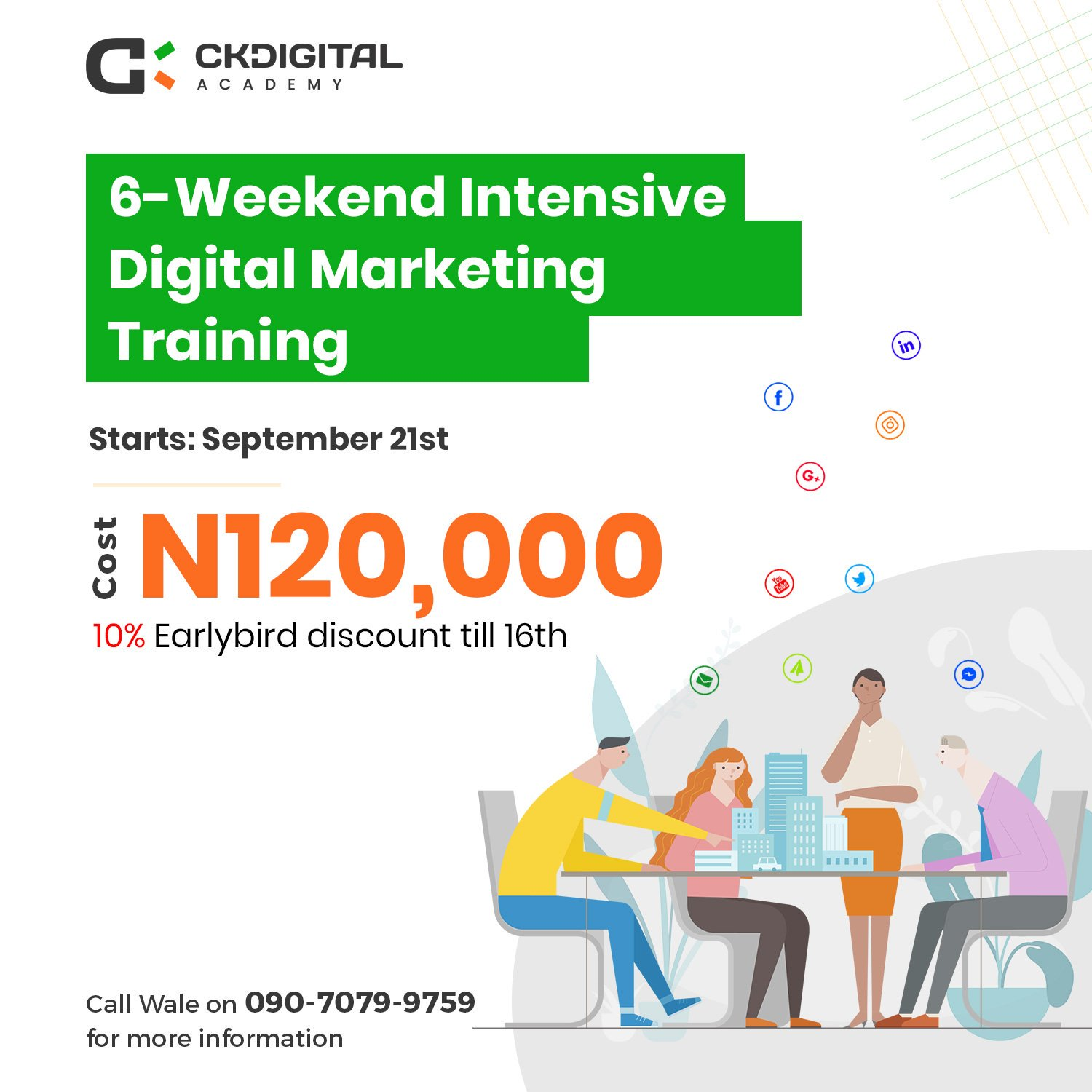 Ckdigital Academy On Twitter Dear Graduate Business Owner Job Seeker Do You Know Many Companies In Nigeria And Abroad Are Looking For Digital Marketers With The Right Skills And Practical Knowledge To Help Them
