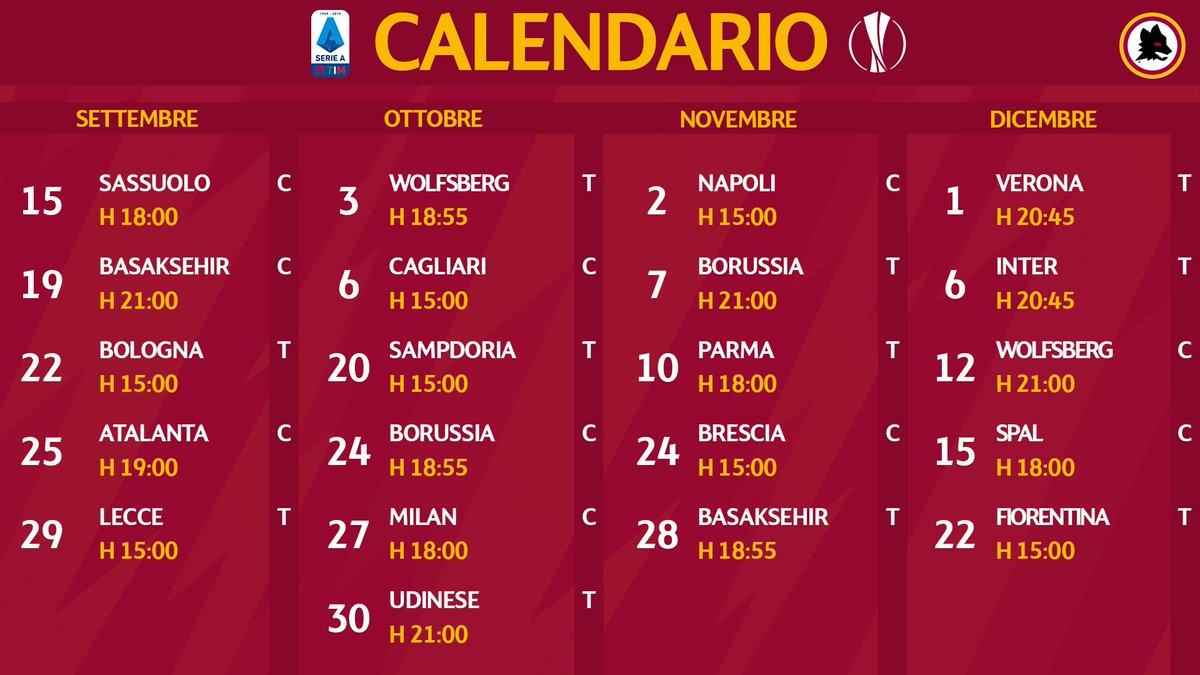 Calendario Asroma.As Roma On Twitter Serie A Europa League Date E