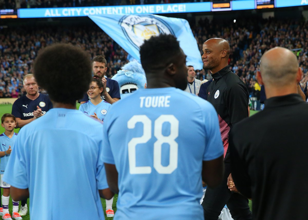 Talk about a trip down memory lane.Vincent Kompany's testimonial didn't disappoint.Read all about it: http://bbc.in/2kcGxQN #MCFC