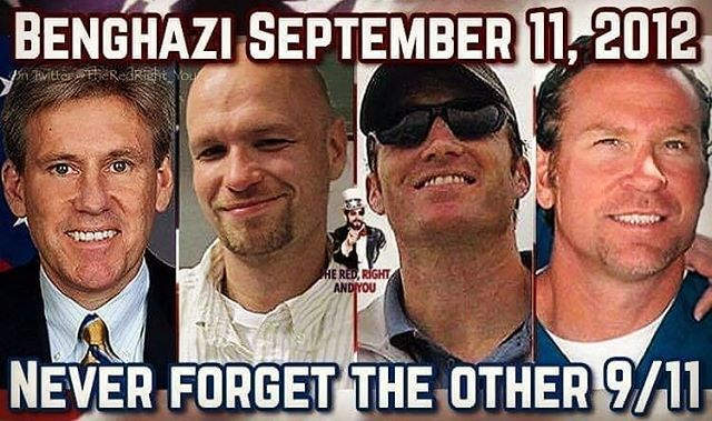 #Repost @bluestateconservatives ・・・ Never forget these men who died in Libya because of Washington's irresponsible actions. Then their mothers were told they were liars by Hillary.  _______________________________________________________ #MAGA #MakeA… https://ift.tt/34GS3WUpic.twitter.com/9J4vGUAt15