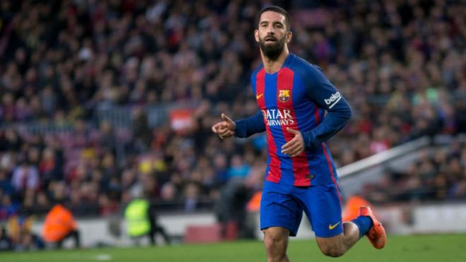 Barcelona midfielder Arda Turan has received a suspended jail sentence after he fired a gun inside a hospital.Full story: http://bbc.in/2kEymgn