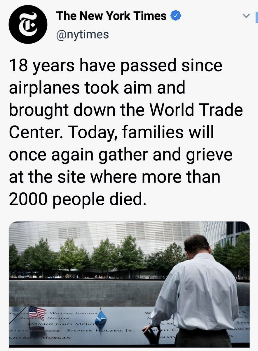 Two violent, stubbornly evil airplanes flew into the twin towers, overcoming fierce resistance from idealistic Islamist youth Mohamed Atta and others who tried their best to save the world.Hats off, @nytimes, for telling us the true story.#September11 #911remembered