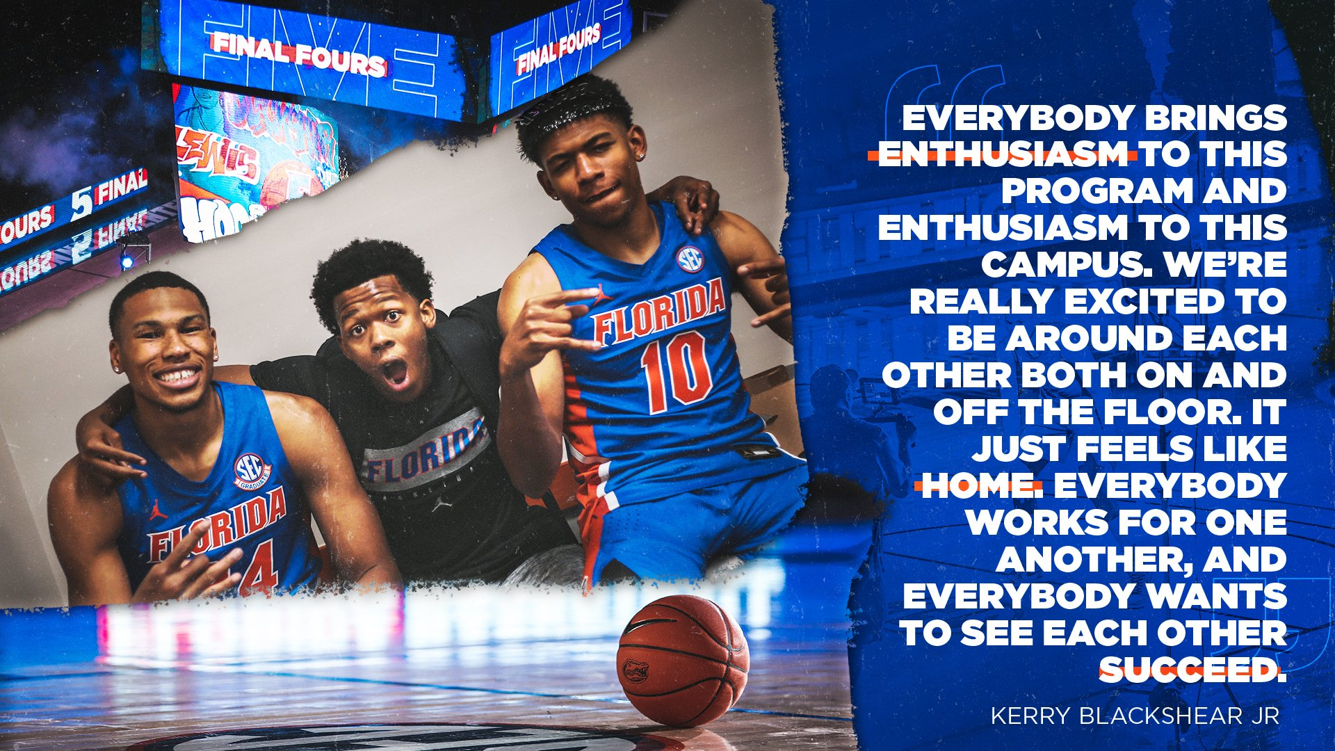 Florida Gators Men's Basketball: '...just feels like home...' @kjblack15   #GatorsHoop.  Tweet by @GatorsMBK