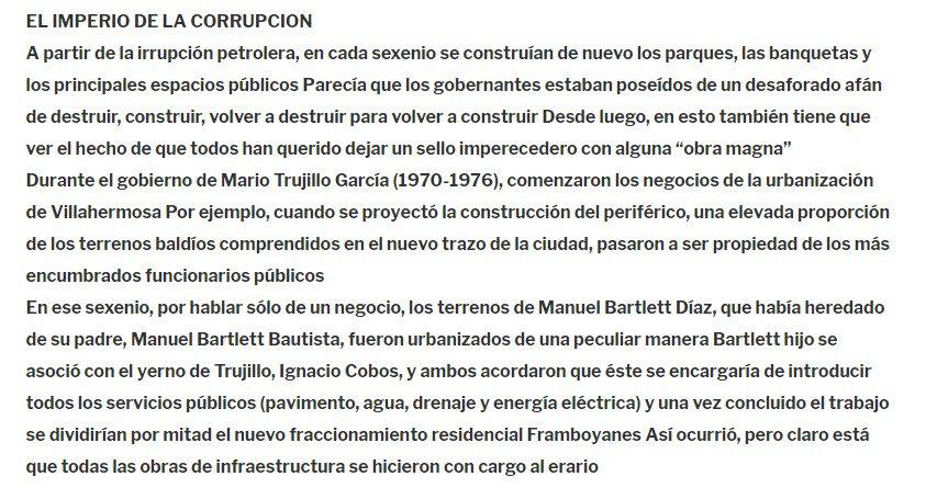 """En 1995, @lopezobrador_ denunció a @ManuelBartlett por corrupción en su libro """"Entre la Historia y la Esperanza""""; este párrafo está en Proceso del 18 de noviembre de 1995"""