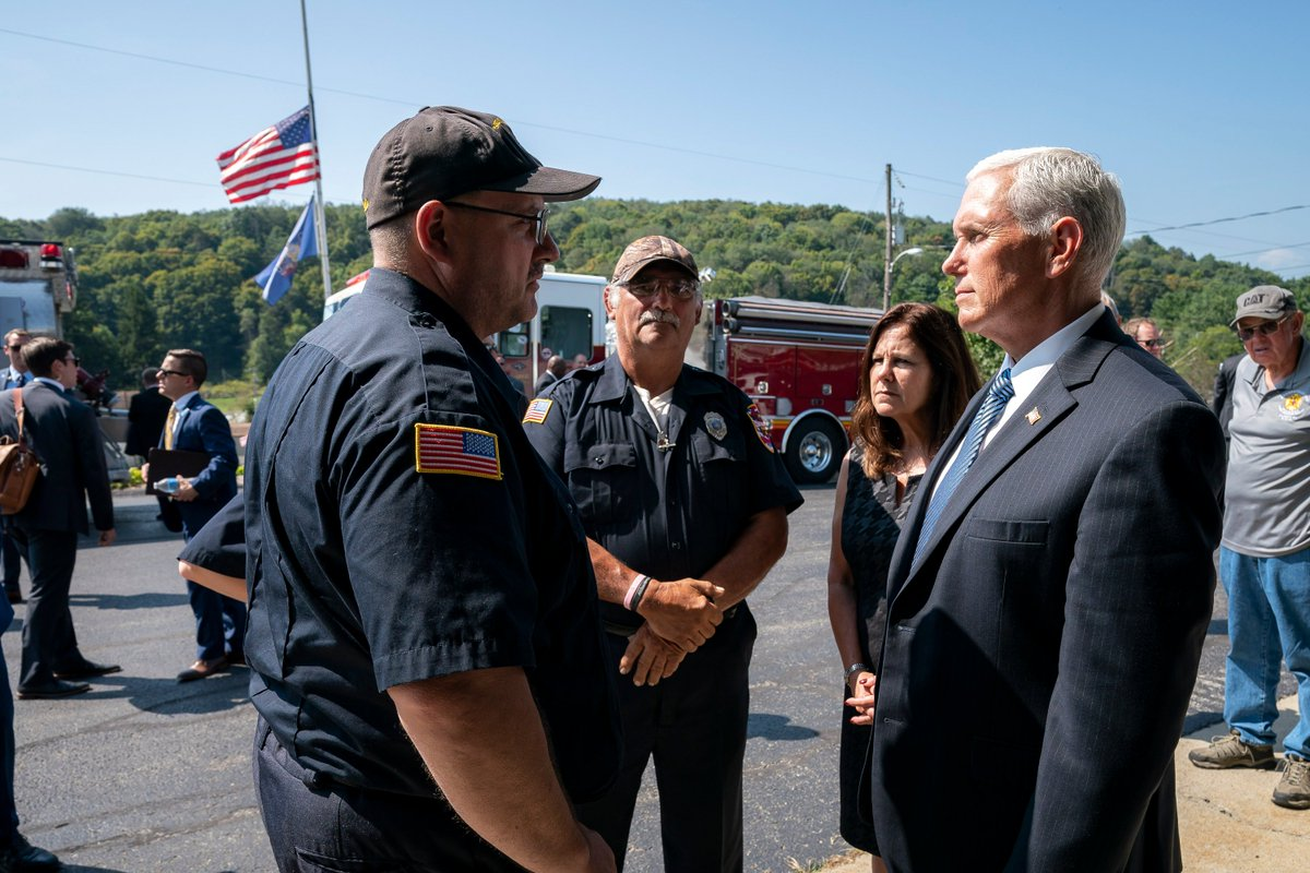 On behalf of a grateful nation, thank you to the brave men and women of the Shanksville Volunteer Fire Department for their bravery and swift action as they arrived first to the terrible crash site of Flight 93 on 9/11/01. We will never forget. <br>http://pic.twitter.com/5J6cwm6jSd