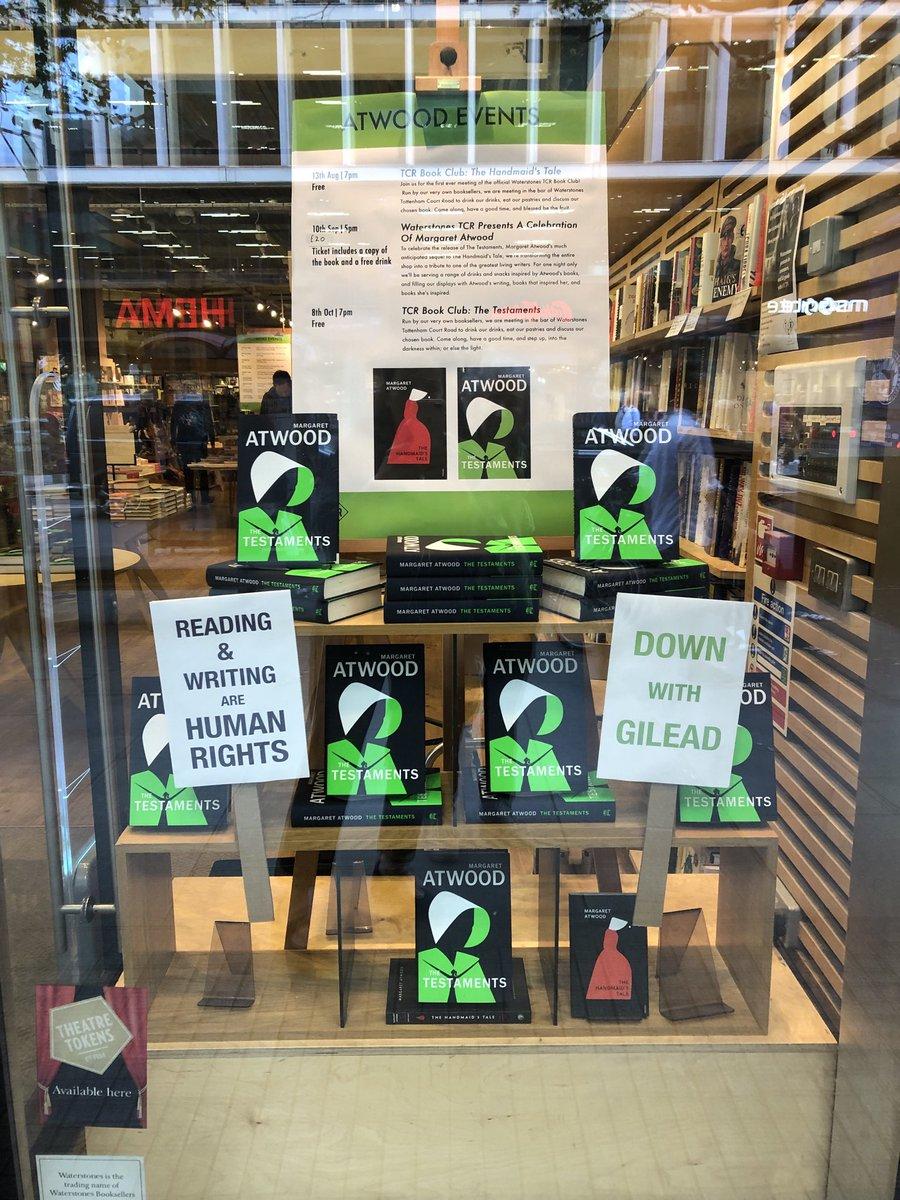 Window display in @Waterstones Tottenham Court Road..,