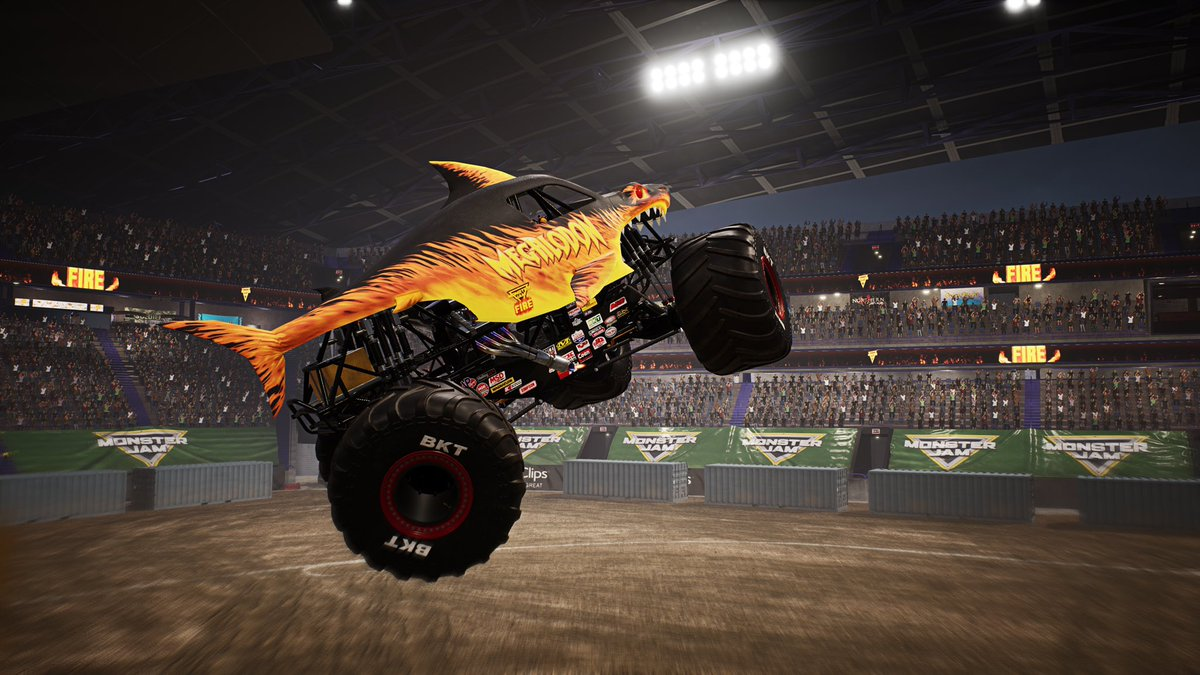 Monster Jam Steel Titans On Twitter The Fire Ice Tires Are Always Visible In Non Official Events