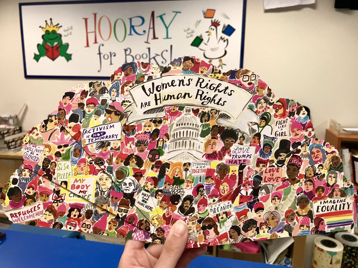 """Absolutely love these """"Fan of Equal Rights"""" paper #fans by @eebooalwaysgood—beautiful and really nice quality. Perfect for a social justice #activist! #womensrightsarehumanrights #diversitymakesamericagreat #equality #blacklivesmatter  #feminist #fan #paperfan #shopindie #weship<br>http://pic.twitter.com/e4YdGHmwaa – à Hooray For Books"""
