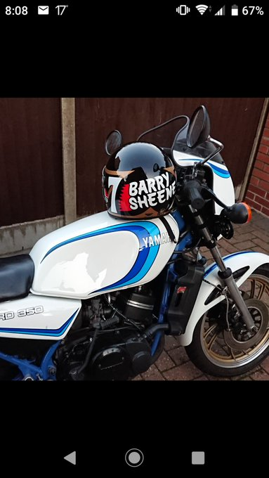 Nice night it was for a ride Happy birthday to the late Barry sheene