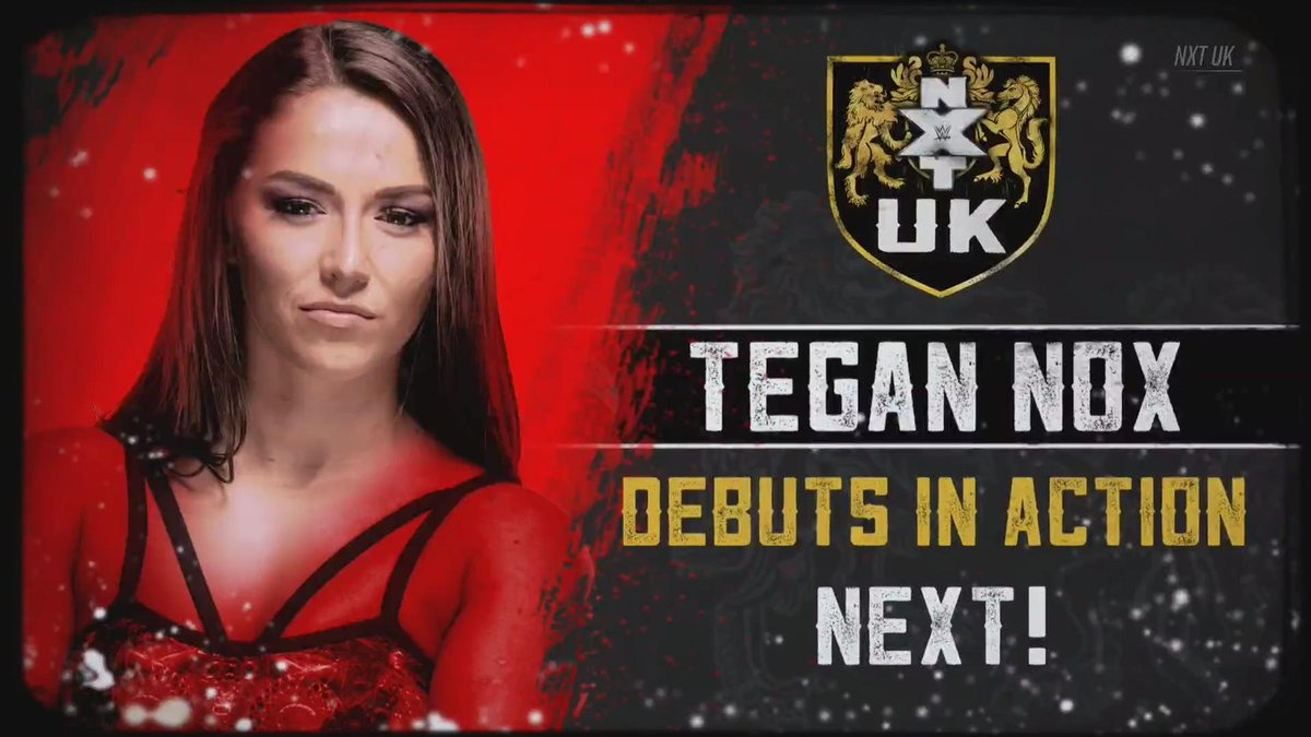 UP NEXT: The girl with the SHINIEST Wizard @TeganNoxWWE_ makes her #NXTUK on @WWENetwork!