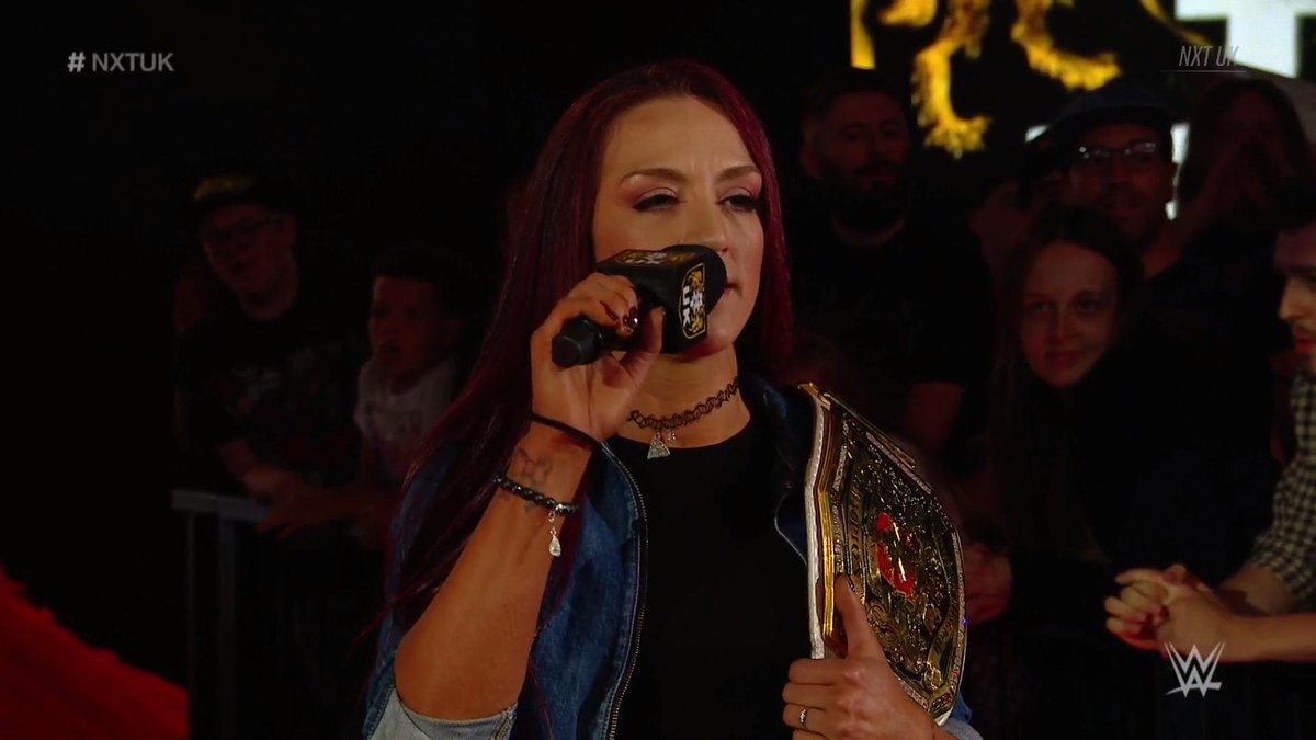 Your NEW #NXTUK #WomensChampion @Kay_Lee_Ray has something to say.