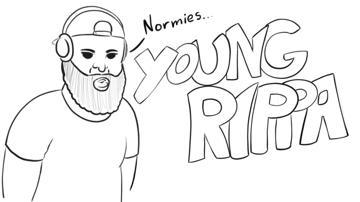Just doodling some @EricDJuly artwork aka youngrippa59 on YouTube. Solid channel educating us Normies everyday on comics. #digitalart #comics