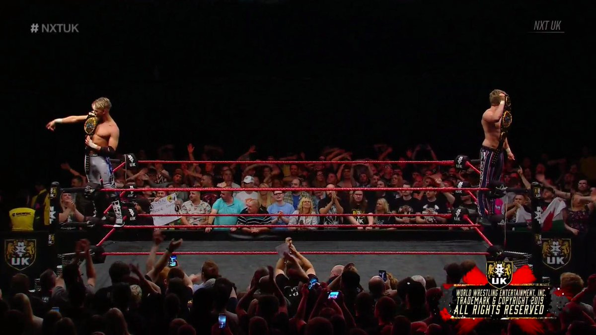 STILL your #NXTUK #TagTeamChampions...@MandrewsJunior & @Flash_Morgan!