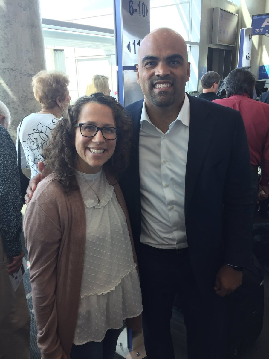 Glad to have gotten to meet @RepColinAllred at the airport on Monday, but grateful to his amazing staffer for sitting down with me #4ourpatients. <br>http://pic.twitter.com/8V6nXC7nVA