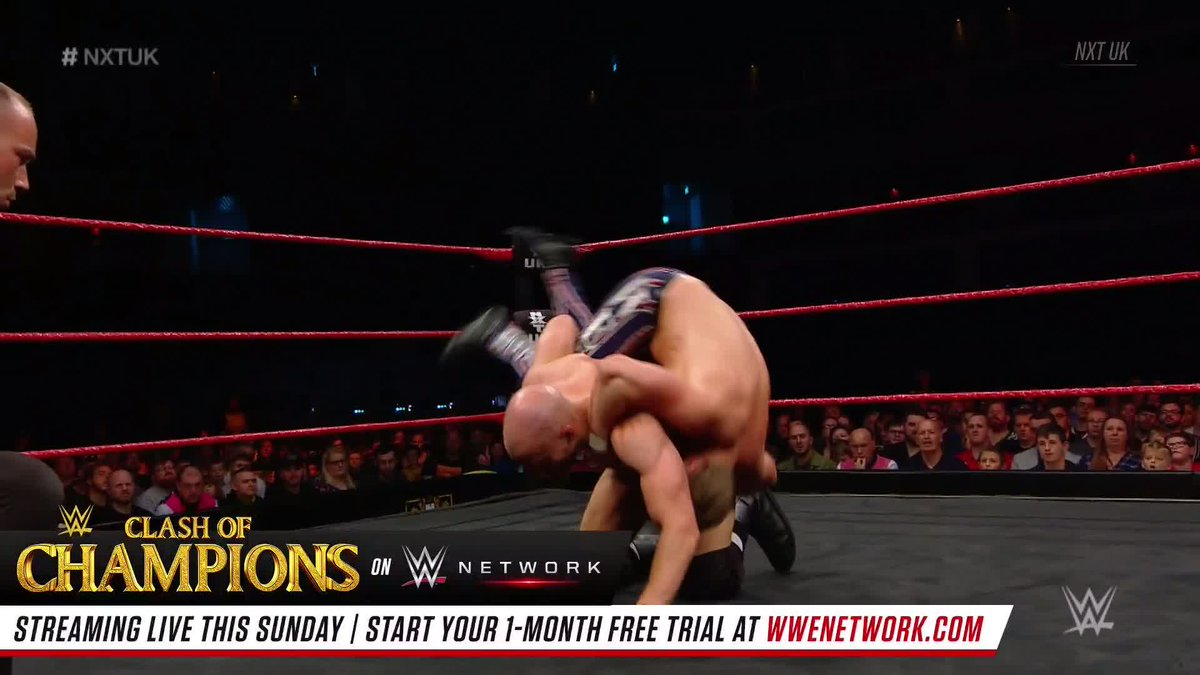 .@JamesDrake_GYT & @ZackGibson01 battled @MandrewsJunior & @Flash_Morgan for the NXT UK Tag Team Titles in a #NXTUKTakeOver: Cardiff rematch on #NXTUK!