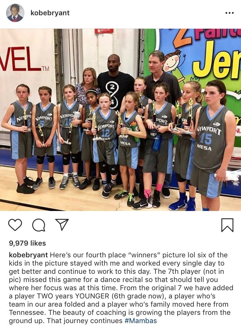 Kobe Bryant Addresses His Viral Girls Basketball Instagram Post