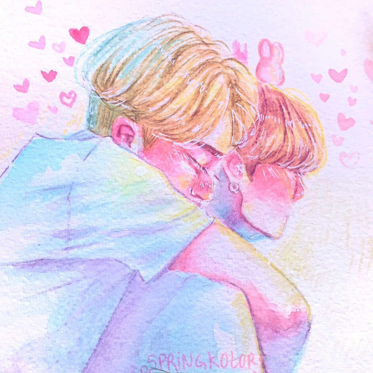 You are my home    (I still can't get over it) #jikook #jikookmin #kookmin #jimin #jungkook #traditionalarts #watercolors #btsfanart #jikookfanart<br>http://pic.twitter.com/oTWbgUTzmu