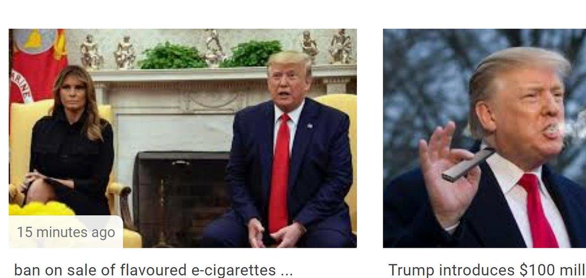 Trump Wants to Ban Vaping to Protect Melanias Son - Top Tweets Photo