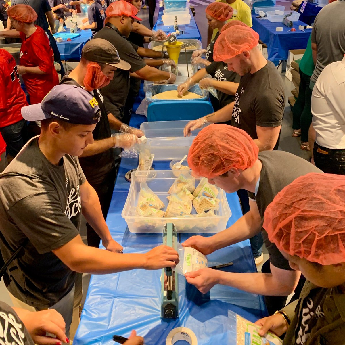 Today, our employees teamed up with Tomorrow Together and more than 4,000 volunteers on the @IntrepidMuseum  for the September 11 National Day of Service, helping pack over 1 million meals for New Yorkers in need.