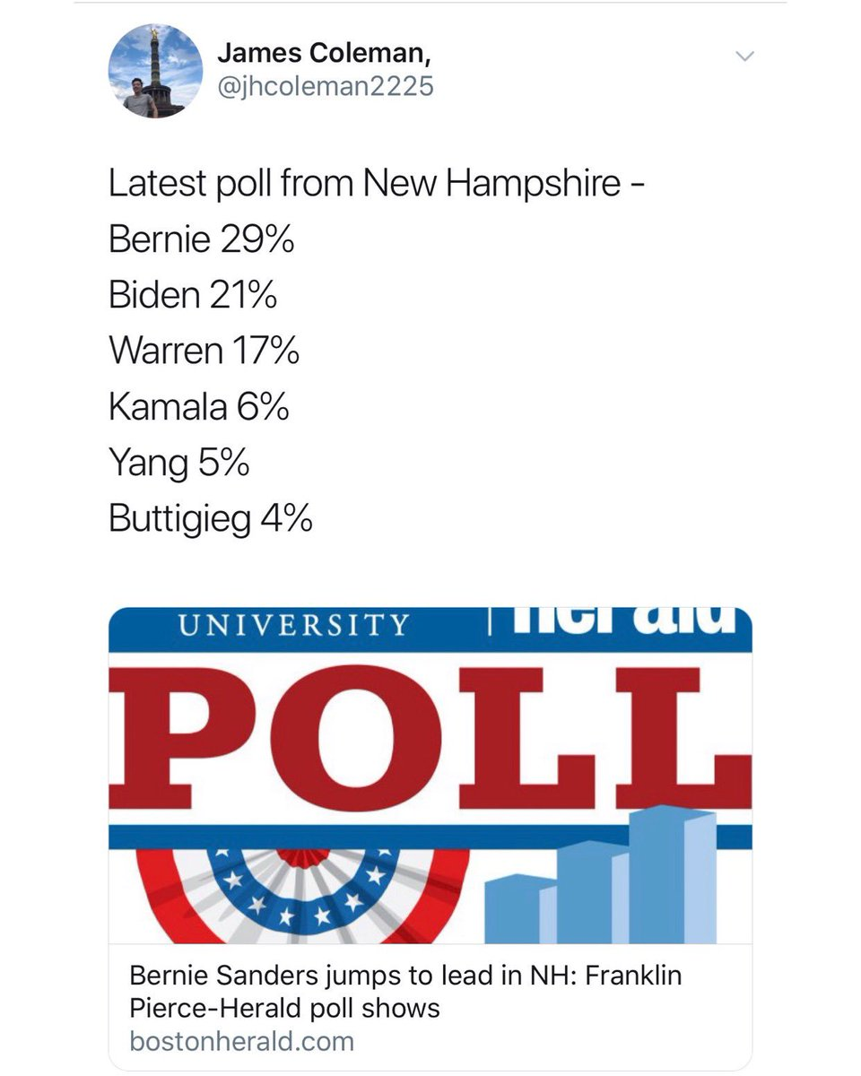 Bernie is in the lead in New Hampshire.   In the lead in Nevada.  Tied for the lead in Iowa.   2nd place in South Carolina.   Largest lead over Trump in Texas.   LISTEN: We can win this.   @BernieSanders can win the nomination and will defeat Trump.<br>http://pic.twitter.com/MBGbGmaL5s