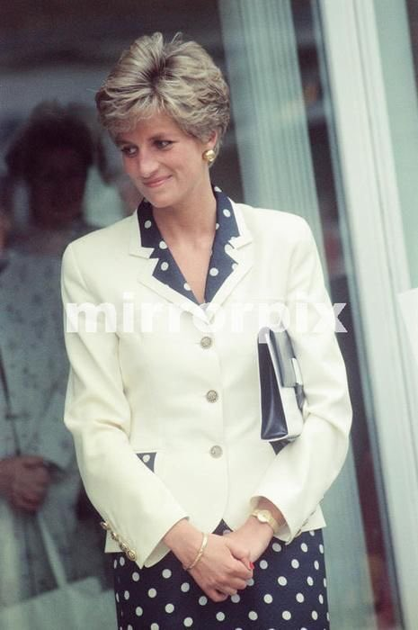 Princess Diana: 12 September 1991: Princess Diana attends the silver jubilee of Damart unveiling a plaq...