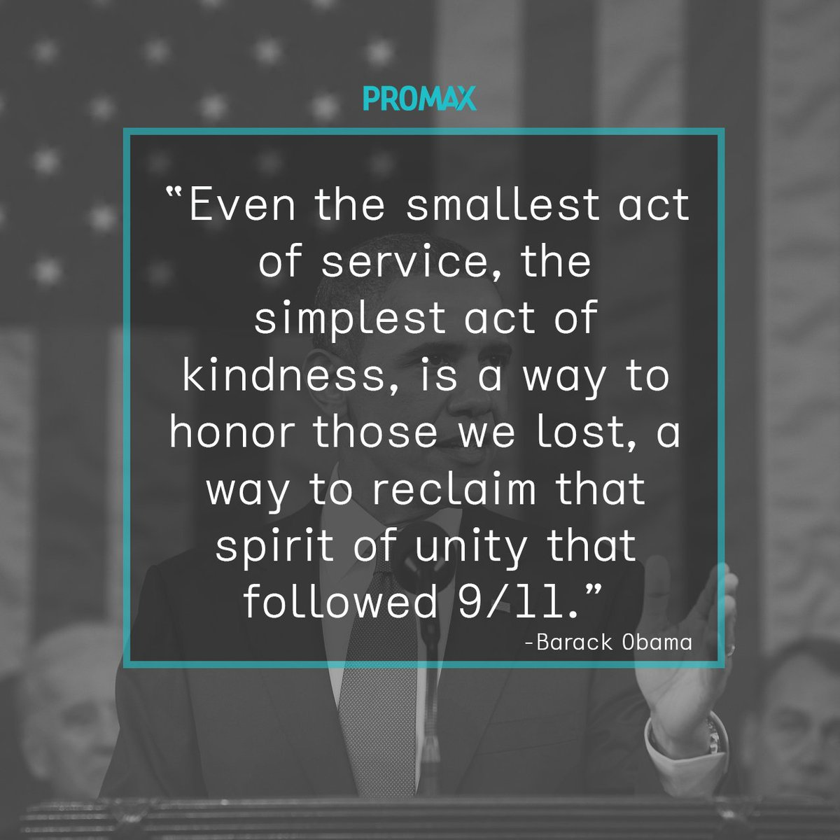 Promax remembers the victims of 9/11 and honors the heroes who helped during the tragic event. #NeverForget #911