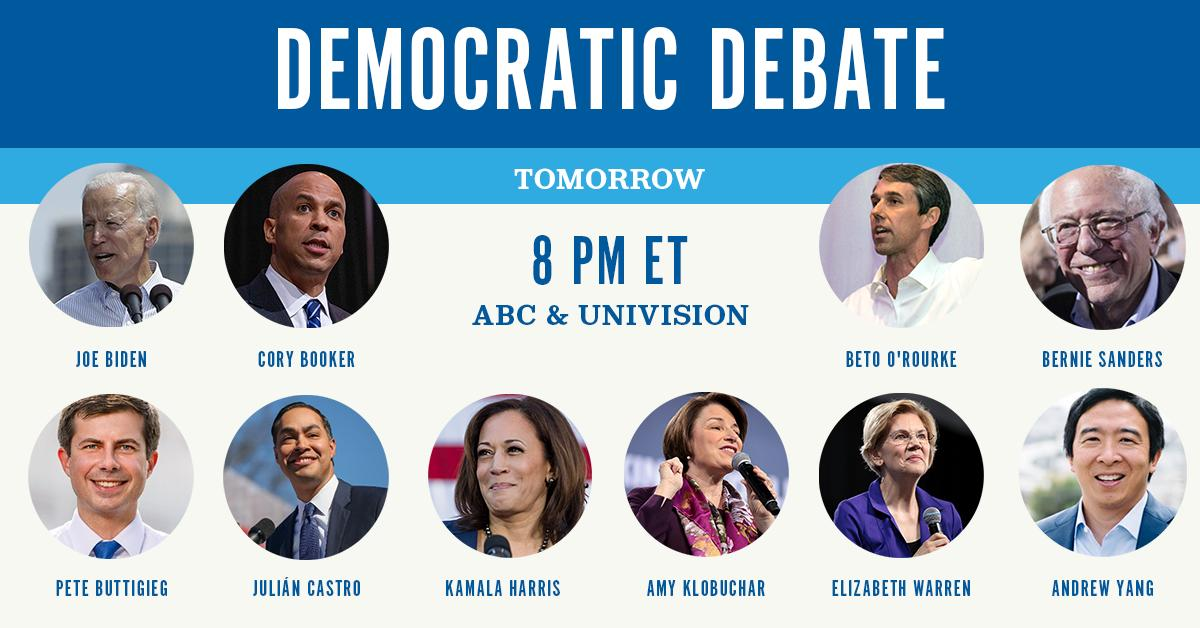 Mark your calendars for tomorrow night at 8 p.m. ET for the third #DemDebate. 📅