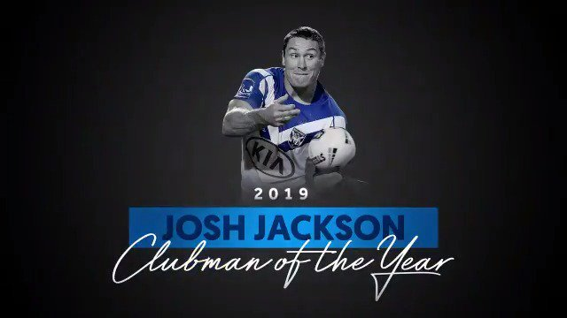 Josh Jackson led the way in 2019 and has been named the Les Johns Clubman of the Year. #proudtobeabulldog