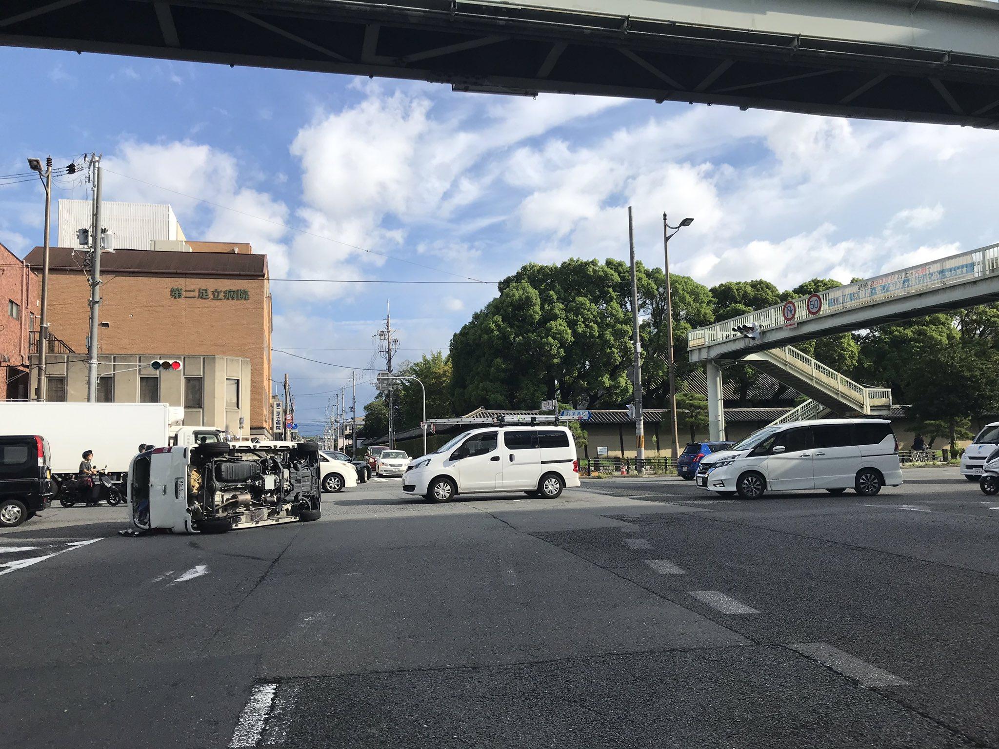 画像,#交通情報#京都今、#国道1号線 #東寺 の交差点で事故これから大 #渋滞 🚐🚕🚙なりそうです。又、早朝から#ネズミ捕り やってます皆さん安全運転で😁#写真撮っ…