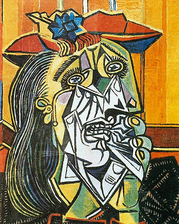 weeping woman (1937) cat (2019) by pablo picasso by me