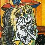 Image for the Tweet beginning: weeping woman (1937)