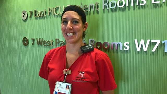"""Young patients teach nurse what's important in life - PICU nurse/educator Erin Kramer: """"The work we do here every day is exactly what I've wanted to do with my life. You're here for the happiest of times and the most devastating of times."""" iuh.me/2N9eCy7"""