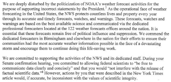 House Dems launch investigation into whether White House pressured weather service into backing Trump - Top Tweets Photo